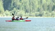 HD: Family Having Fun Kayaking video