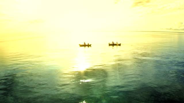 AERIAL Family Having Fun Kayaking video