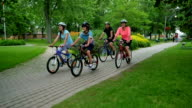 Family Healthy Lifestyle: Bicycling Together video