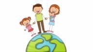 Family icon design, Video Animation video