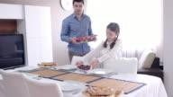 Family iftar meal preperation in Ramadan video