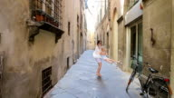 Family in Europe. Happy mother and little adorable girl having fun in Rome during summer italian vacation video