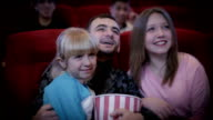 Family in the cinema video
