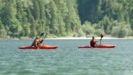 HD: Family Kayaking On The Lake video