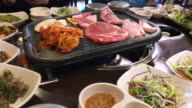 Family Lunch time with Korean BBQ , Seoul , South Korea video