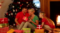 Family On Christmas Morning video