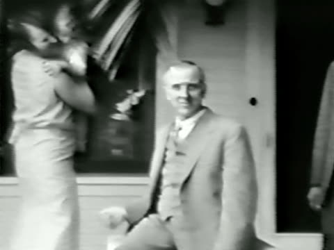 Family on porch-From 1930's film video