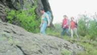 Family on Trekking Trip video