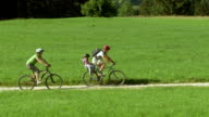 HD: Family Riding Bikes In The Countryside video
