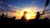 WS Family Sea Kayaking At Sunset video
