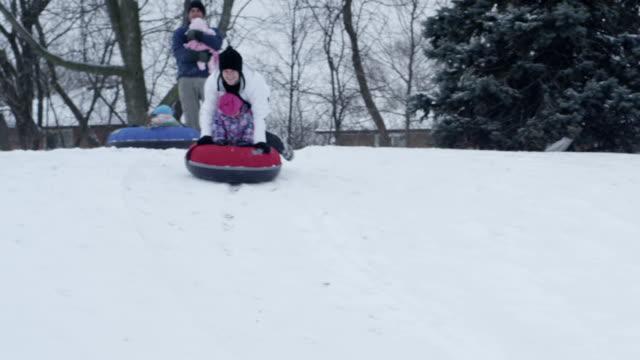 Family Snow Tubing video