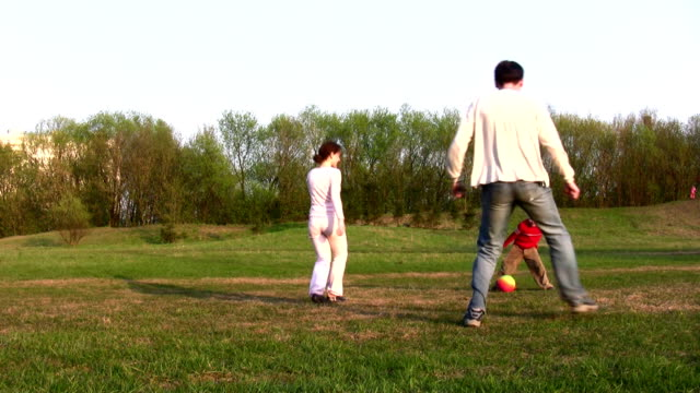 family soccer video