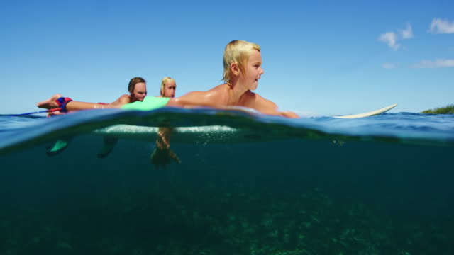 Family Surfing Together video
