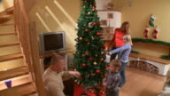 HD CRANE: Family Time For Christmas video