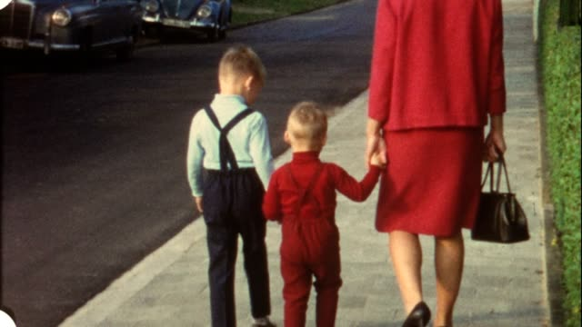 Family walk in the 1960s (vintage 8 mm amateur film) video