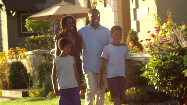 Family walk together video