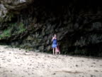 Family Walking in Giant Cave, Zoom Out video