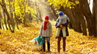 Family Walking in Park video