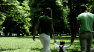 Family walking in the park video