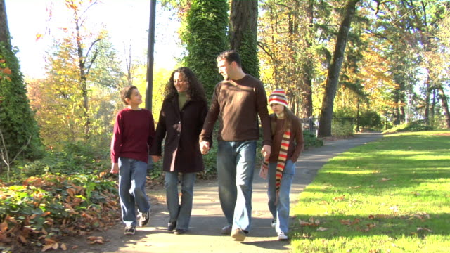 Family walking together video