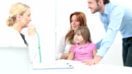 HD: Family with child visit doctor. video