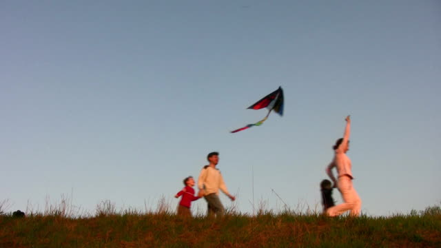 family with kite video