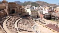Famous Amphitheater Romano in Cartagena, Spain video