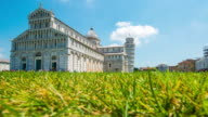 T/L 8K Famous architectural attraction Pisa in Italy video