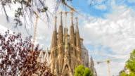 Famous Barcelona attraction La Sagrada Familia video