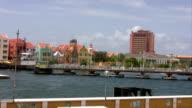 Famous boat bridge on curacao video
