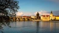 Famous Charles Bridge in Prague video