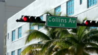 Famous Collins Ave in Art Deco district of Miami Beach video