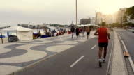 Famous Copacabana pedestrian walk video