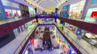 famous crowded dubai city mall interior panorama 4k time lapse united arab emirates video