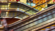 famous dubai mall escalator people traffic 4k time lapse united arab emirates video