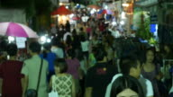 Famous Night Market Walking Street, Lampang, Thailand video