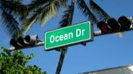 Famous Ocean Drive in Miami Beach video