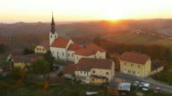 AERIAL Famous parish church Svetinje video