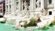 Famous Roman Di Trevi Fountain. Facade close up video