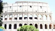 Famous Roman landmark - Coliseum. Facade close up video