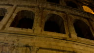 Famous Roman sight Coliseum at night video