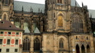 Famous St Vitus cathedral in Prague video