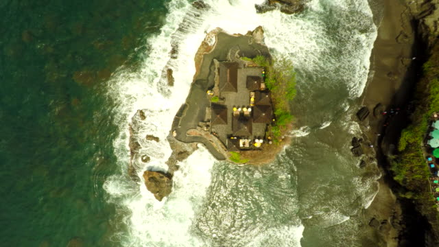 AERIAL Famous Tanah Lot Temple video