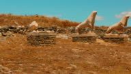 Famous Terrace of Lions in the Greek Island of Delos video