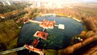 AERIAL Famous thermal lake Heviz in Hungary video