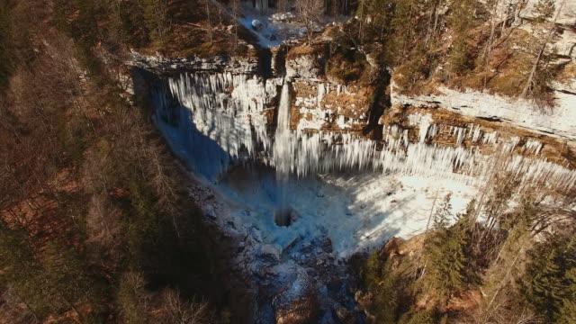 AERIAL Famous waterfall in Julian Alps video