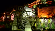 Famous watermill in Dayan old town. Lijiang, China. video