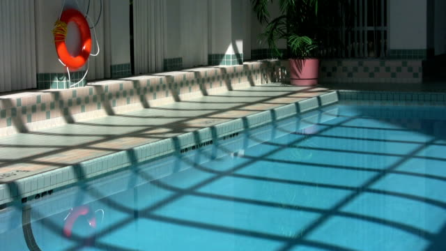 Fan Reflection On Pool Wide (HD 1080p30) video