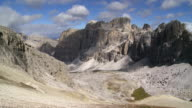 Fanes Group in the Dolomites Mountains PAN video