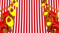 Fanfare On Red White Background video